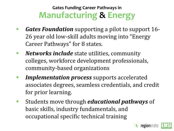 Gates Funding Career Pathways in