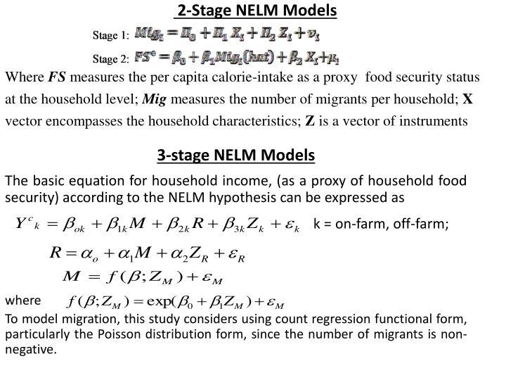 2-Stage NELM Models