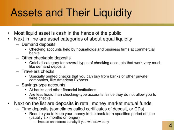 Assets and Their Liquidity