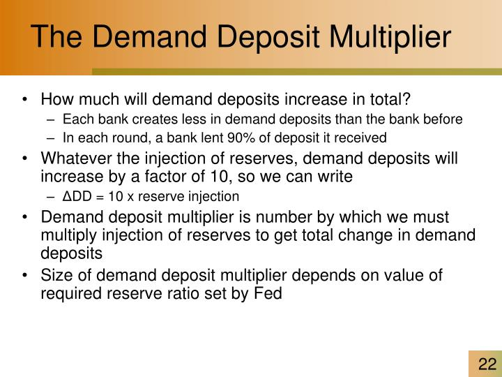 The Demand Deposit Multiplier