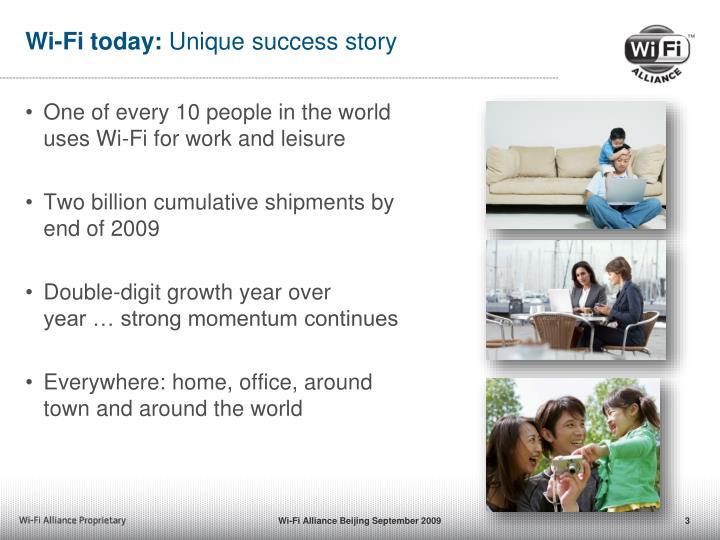Wi fi today unique success story
