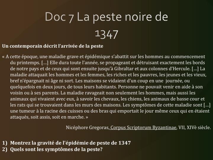 Doc 7 La peste noire de 1347
