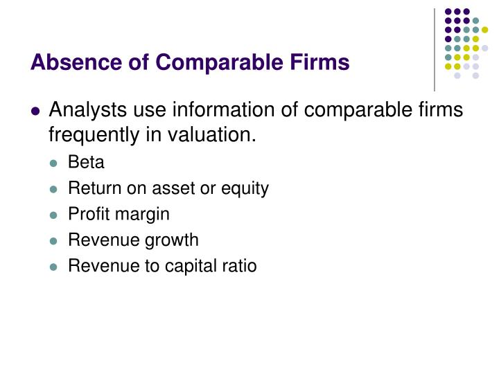 Absence of Comparable Firms