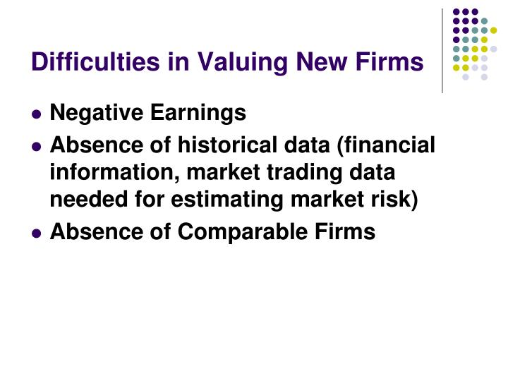 Difficulties in Valuing New Firms