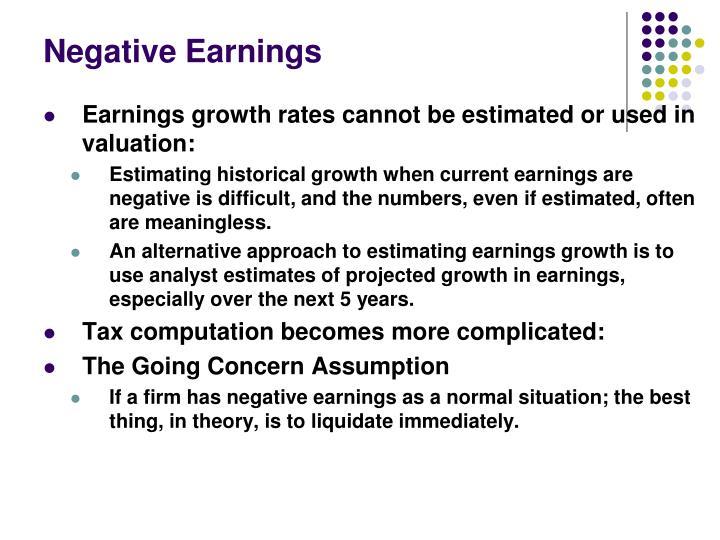 Negative Earnings