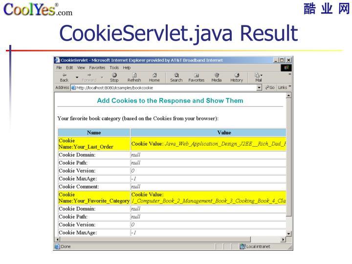 CookieServlet.java Result