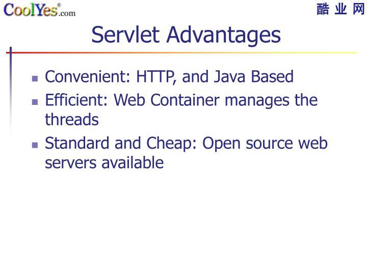 Servlet Advantages