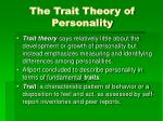 the trait theory of personality1