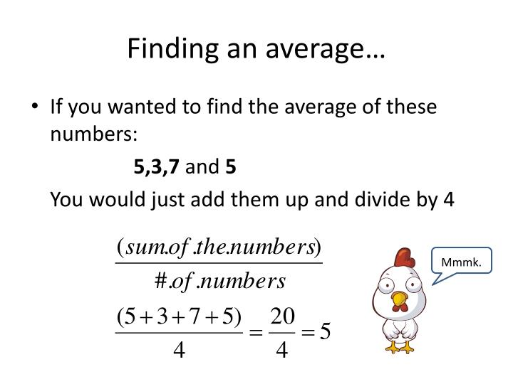 Finding an average