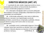 direitos b sicos art 6