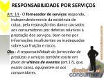 responsabilidade por servi os