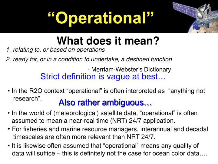 """Operational"""