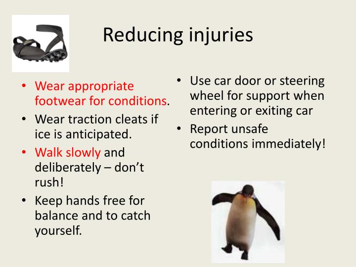 Reducing injuries