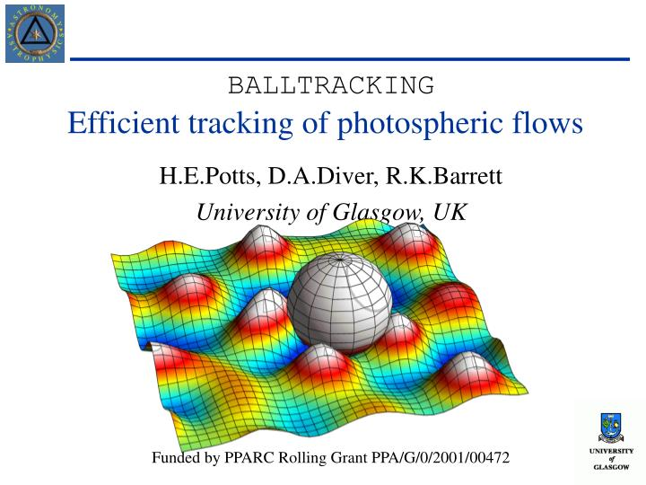 efficient tracking of photospheric flows n.