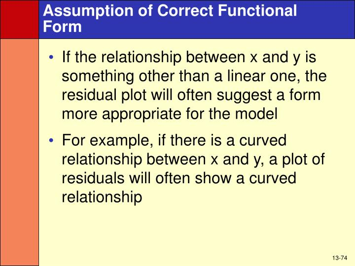 Assumption of Correct Functional
