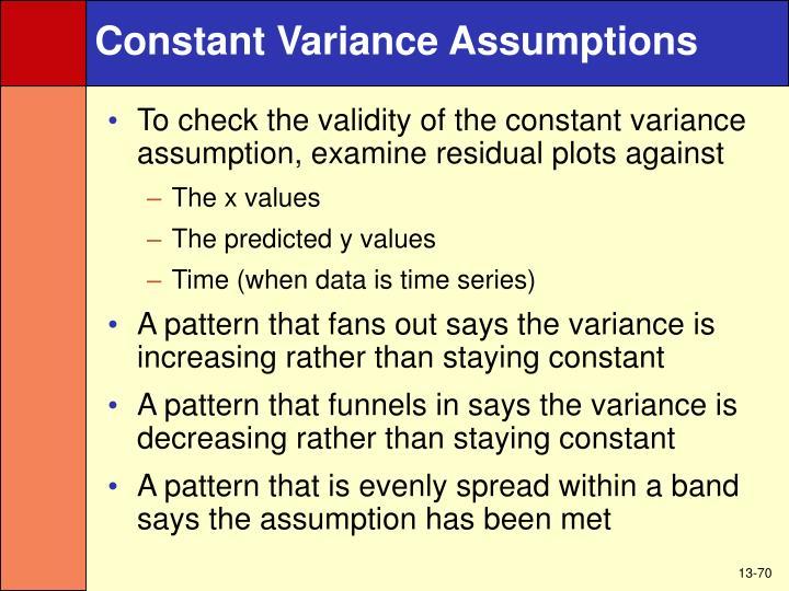 Constant Variance Assumptions