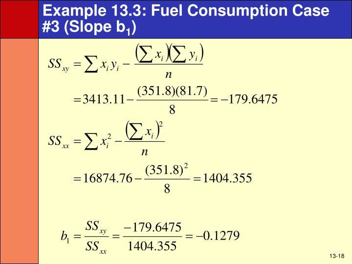Example 13.3: Fuel Consumption Case #3 (Slope b