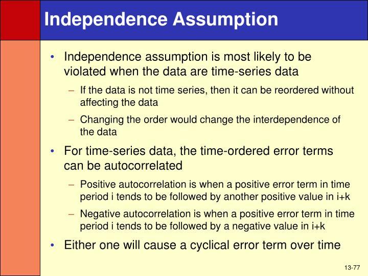 Independence Assumption