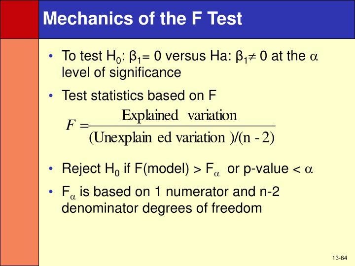 Mechanics of the F Test