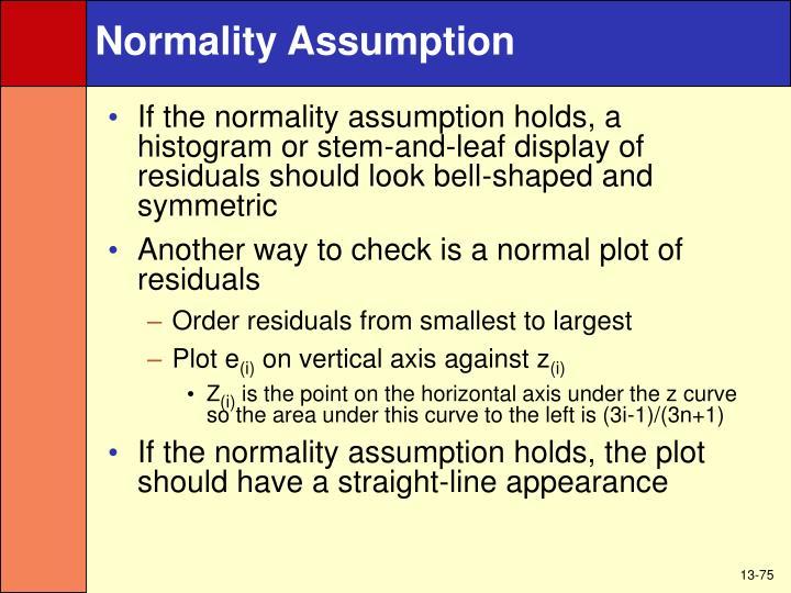 Normality Assumption