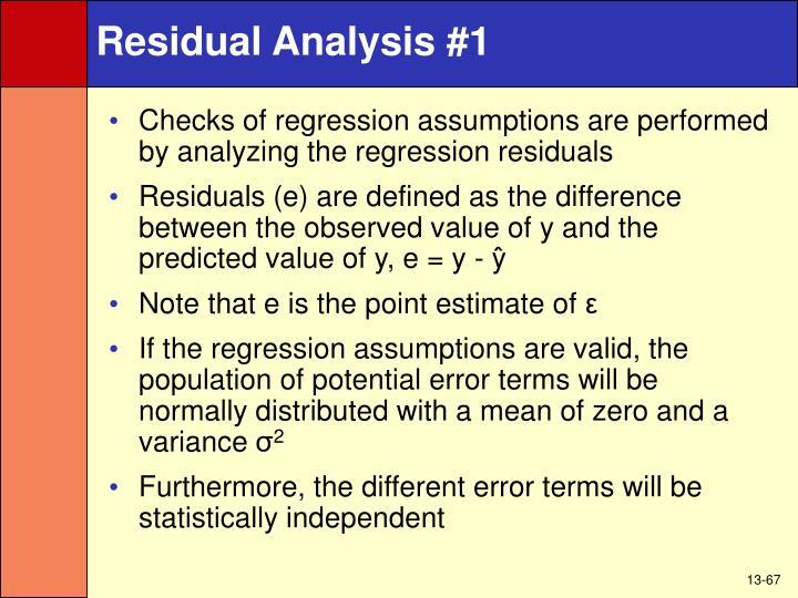 Residual Analysis #1