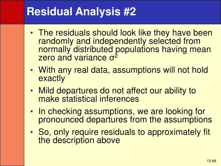 Residual Analysis #2