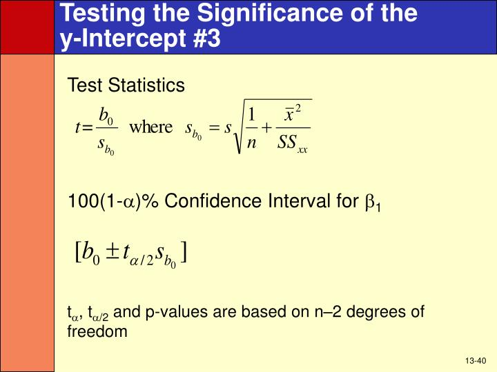 Testing the Significance of the