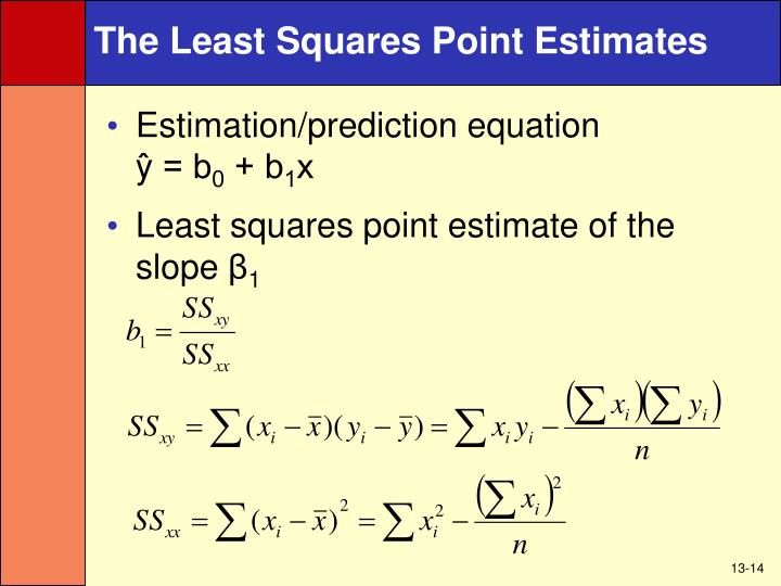 The Least Squares Point Estimates