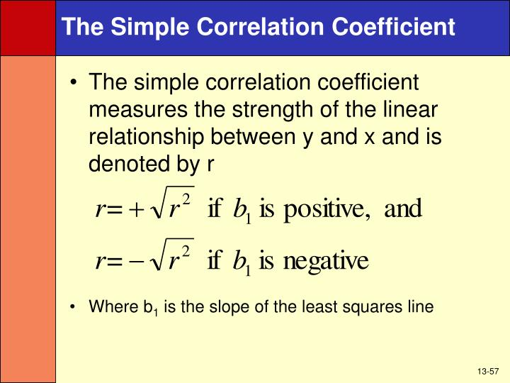The Simple Correlation Coefficient