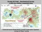 eureka oil field geochemical survey 1 500 acre sefton leasehold area