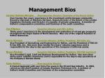 management bios