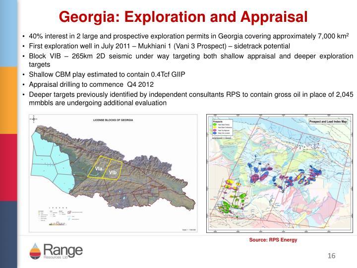 Georgia: Exploration and Appraisa
