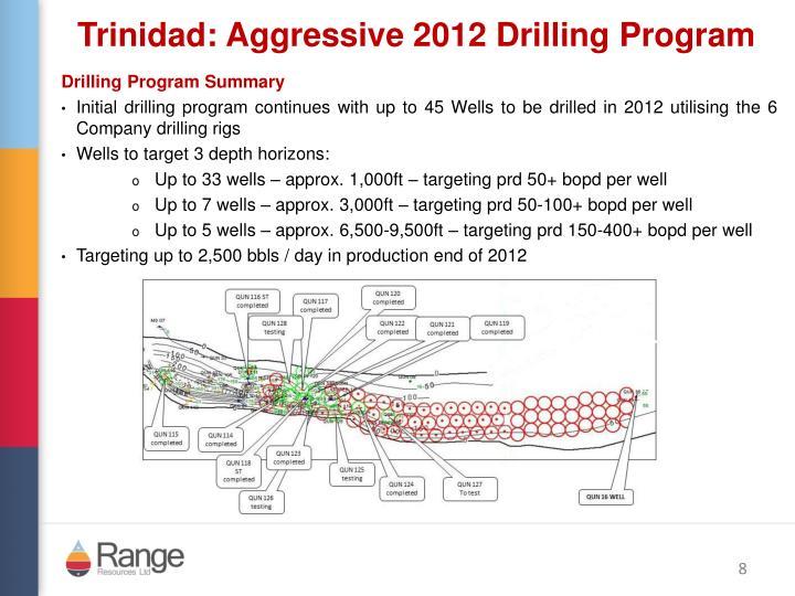 Trinidad: Aggressive 2012 Drilling Program