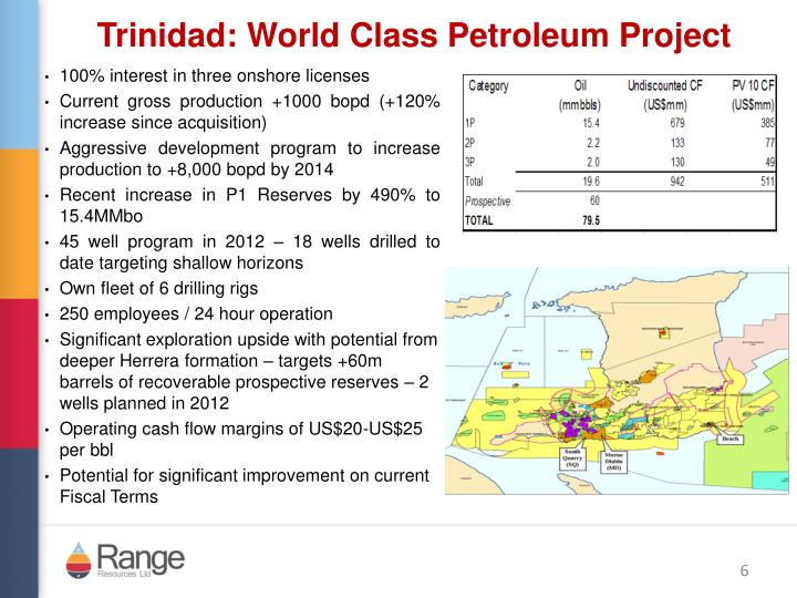 Trinidad: World Class Petroleum Project