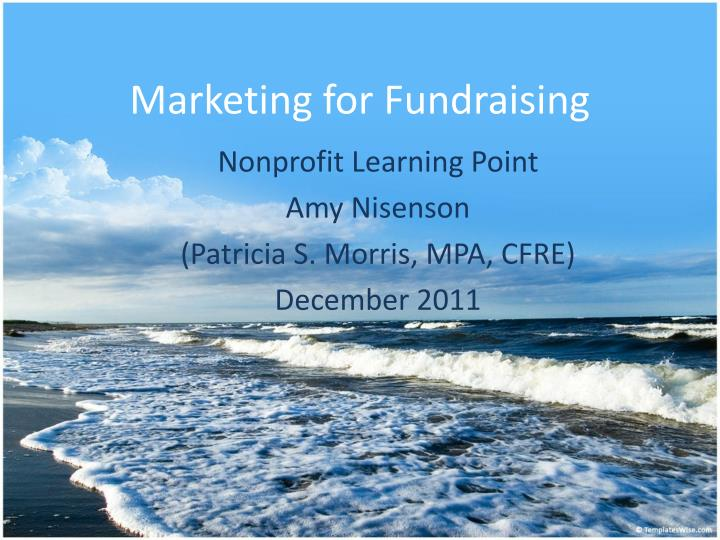 marketing for fundraising n.