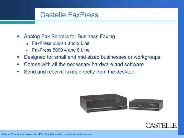 Castelle FaxPress