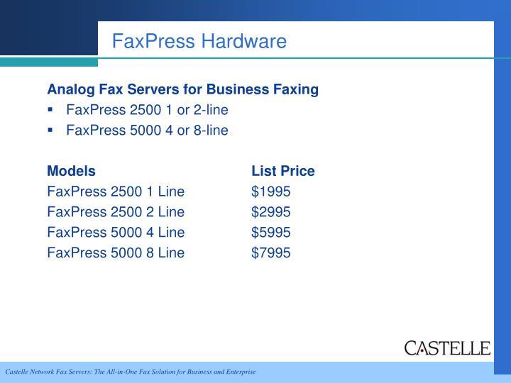 FaxPress Hardware