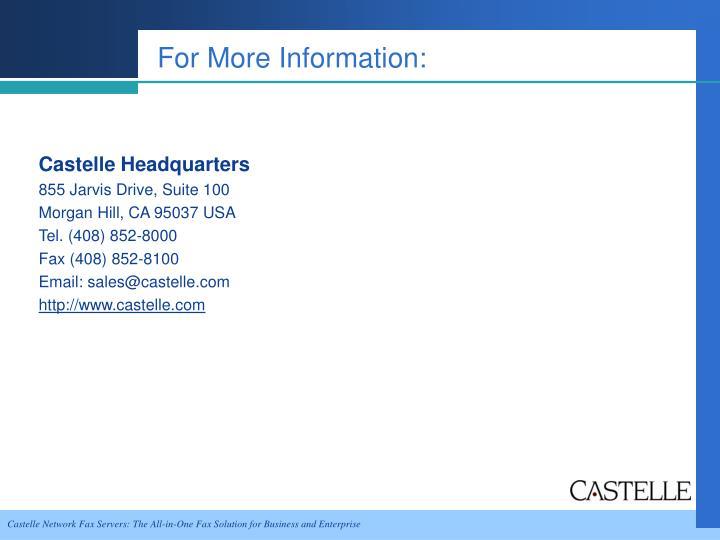 Castelle Headquarters