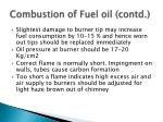 combustion of fuel oil contd