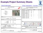 example project summary sheets