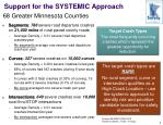 support for the systemic approach