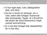 datalagring tegnkoding