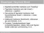 eksempel h yniv word