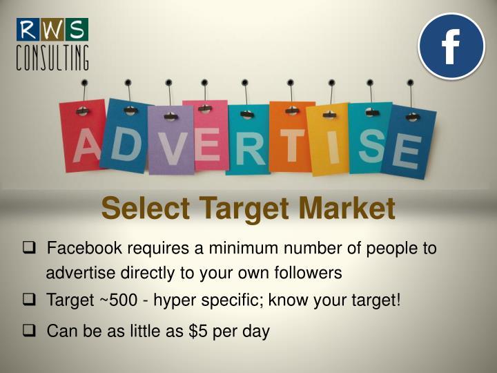 Select Target Market