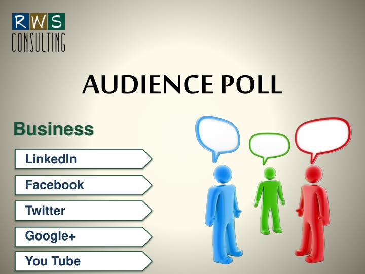 AUDIENCE POLL