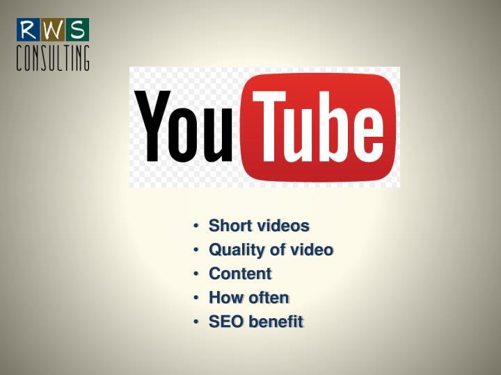 Short videos