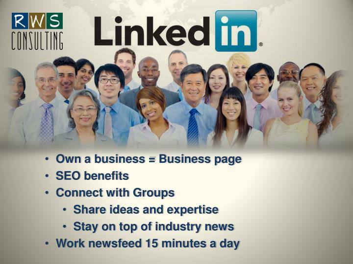 Own a business = Business page