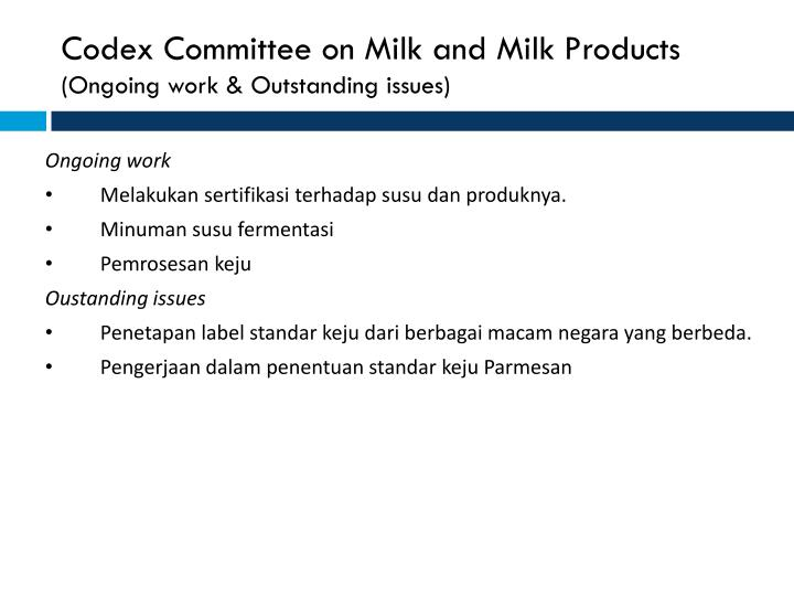Codex Committee on Milk and Milk Products