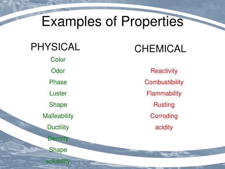 Ppt Chemical And Physical Properties Of Matter Powerpoint