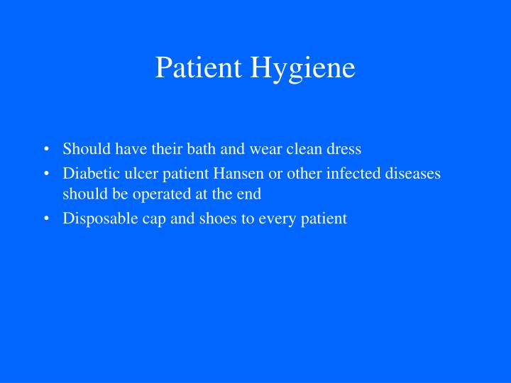 Patient Hygiene